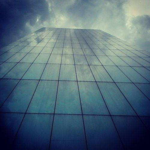 Tall Building at Simmons Street in JHB. reflection of the clouds on the city building. Blends well with the sky. _______♡______________♥ Art architecture blue