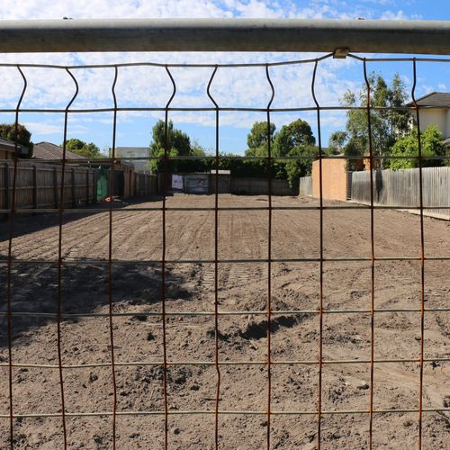 Tree Outdoors No People Chainlink Fence Day Built Structure Sky Minimalist Architecture Vacant Lot Dirt Land