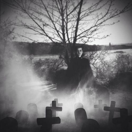 Ghost Spooky Atmosphere Spooky Church Graveyard..