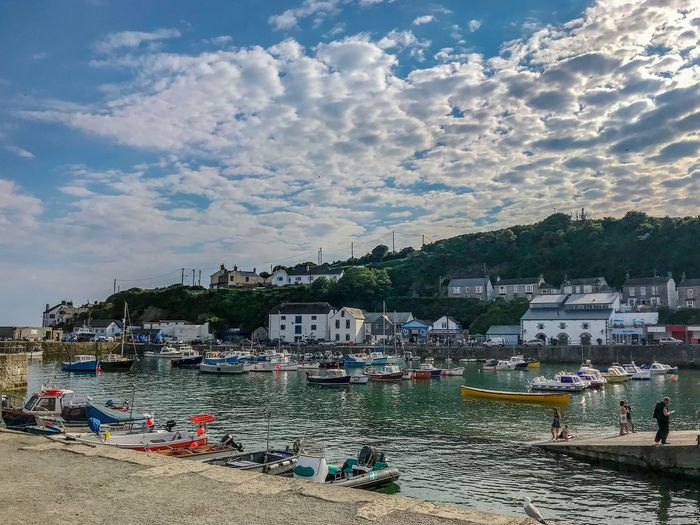 porthleven Cloud - Sky Harbour View Historic Harbour Town Boats Postcard Perfect Sea Water Beach Sand Multi Colored Summer Sunlight Nautical Vessel Capture Tomorrow 2018 In One Photograph My Best Photo