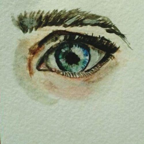 Глаза говорят больше, чем слова. Поэтому когда больно – мы отворачиваемся глаза  акварель рисунок арт  глаз рисунок акварелью красиво грусть художник First Eyeem Photo