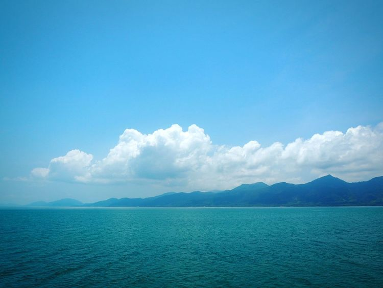 Sea and sky.. Tree Thailand High HelloEyeEm TRVEL Lovely Awesome Mountain View Island Blue Sky Outside Sky Water Blue Scenics - Nature Cloud - Sky Mountain Environment Sea Beauty In Nature Landscape Tranquility Nature Travel Day No People Travel Destinations Land Copy Space Tranquil Scene Outdoors