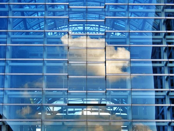 cloud in the building Clouds Building Architecture Fujifilm XQ1 Walking Around at Ootemachi in Tokyo Japan