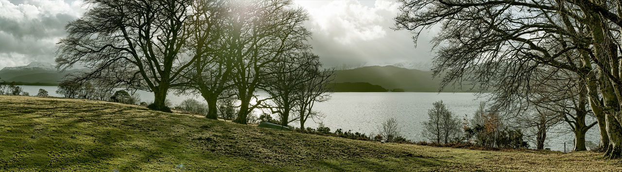 Photo Merge Photography Loch Maree Bank Beauty In Nature Cloud - Sky Day Grass Landscape Mountain Nature Natutres Collours No People Outdoors Scenics Sky Tranquility Tree Water Tranquil Scene Growth Field