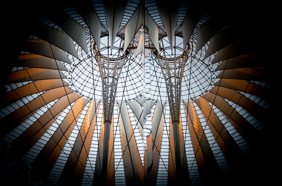 Architecture Architecture_collection Reflection Roof Darkness And Light Day No People Plaza Potsdamer Platz Reflection_collection