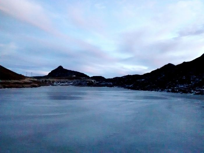 Tawang Vibrantlife Cloudplay Frozen Lake Mirror In Nature