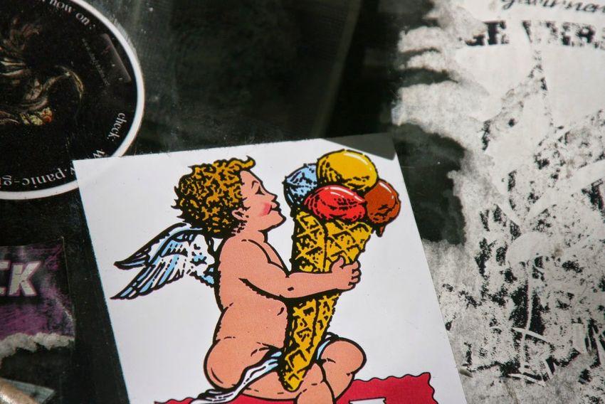 Happiness Icecream Ice Angel Stickerporn Stickers And Stickers Sticker Streetart Aufkleber Engel