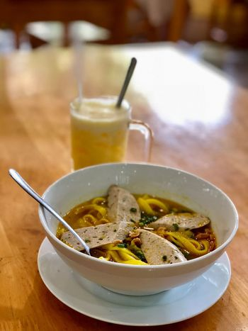 EyeEm Selects Food And Drink Food Freshness Ready-to-eat Healthy Eating Soup Eating Utensil Table Bowl Indoors  Focus On Foreground Drink Meal