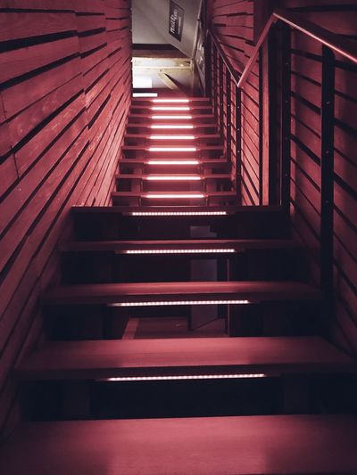 Stairs in corridor