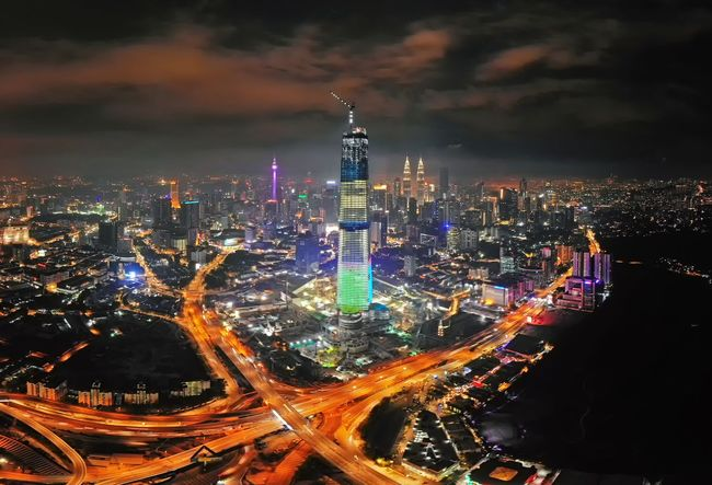 Kuala Lumpur cityscape at night Landscape Skyline Travel Destinations Outdoor Aerial Shot Aerial Photography Aerial View EyeEm Selects Getty Images EyeEm Best Shots Malaysia Dronephotography City Cityscape Urban Skyline Illuminated Skyscraper Modern Multi Colored Downtown District Business Finance And Industry City Life Light Trail Panoramic Neon Times Square - Manhattan Commercial Sign Financial District  Office Building High Street