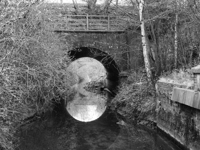 Black And White Bridge No People Water Outdoors Railway Heritage Reflection