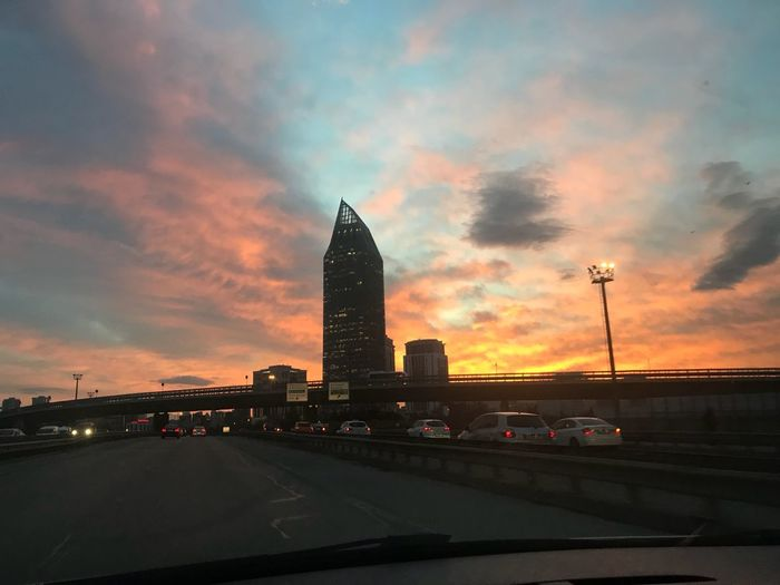 Goodmorning Architecture Sunset Cloud - Sky Sky Built Structure Building Exterior Travel Destinations Skyscraper Urban Skyline City Cityscape Day Modern Outdoors No People