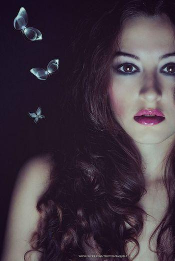 Butterflies Selfportrait Beautiful Model Sexygirl