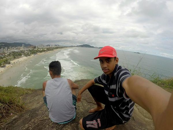 Beach Two People Togetherness Nature Travel Destinations Eyeemphotography Indoors  Photography Beauty In Nature Guarujá Guarujabeach Litoralsp Gopro