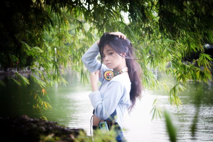 Manila, Philippines Manila ManilaPH Wildlifepark_manila Wildlife Wildlifepark Wildlifeparkmanila Cute Cute_girl CuteFace Cute_face X-men Headset Water Beauty One Person River People Long Hair Nature Tree Beauty In Nature Outdoors Forest