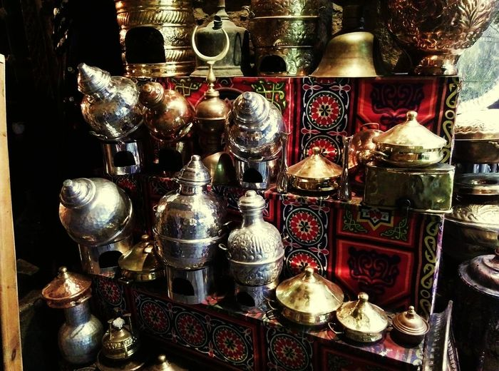 Variation Large Group Of Objects Indoors  No People Abundance Choice Retail  Day Elmoezstreet Cairo @egypt