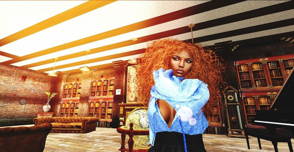 AMSTERDAM SIM Diamond's Pub and Nightclub of Secondlife Traveler Virtual World Virtual Reality One Person Leisure Activity Lifestyles Front View Casual Clothing Standing Young Adult Women