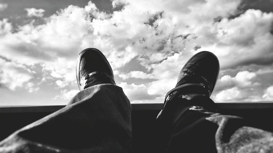 My Perspective Enjoying The View Feet Up Chillin Blackandwhite Balcony Life Relaxing