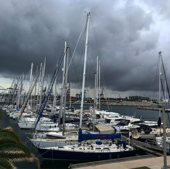 Nautical Vessel Cloud - Sky Mode Of Transport Sky Water Sea Outdoors Boat València