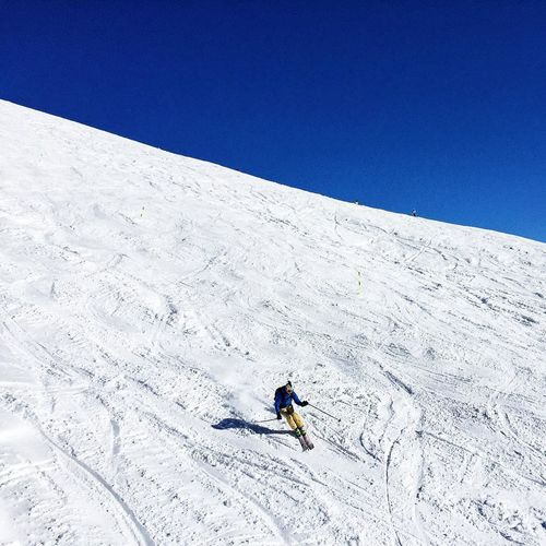 Person Skiing On Snow