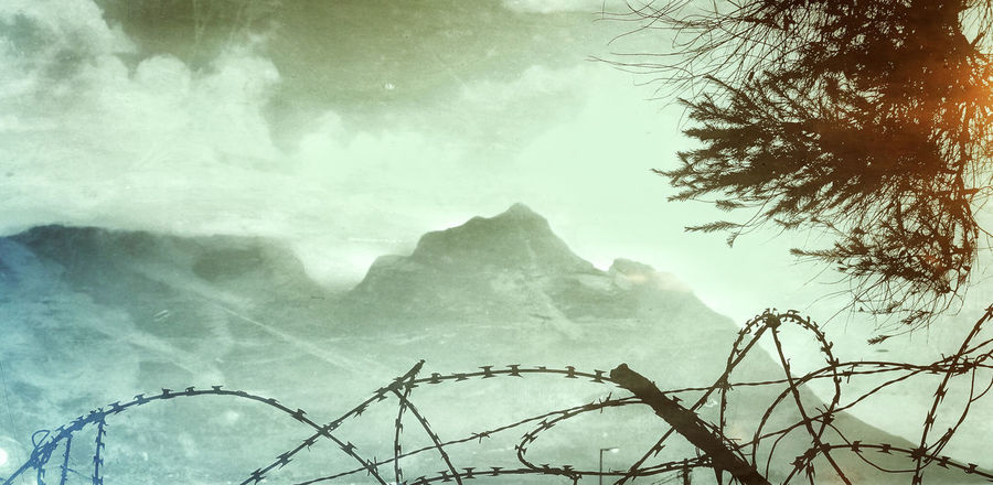 capetown outer district Barbed Wire Beauty In Nature Cloud - Sky Crime Day District Growth Low Angle View Mountain Nature No People Outdoors Scenics Sky Tafelberg Tranquil Scene Tranquility Tree