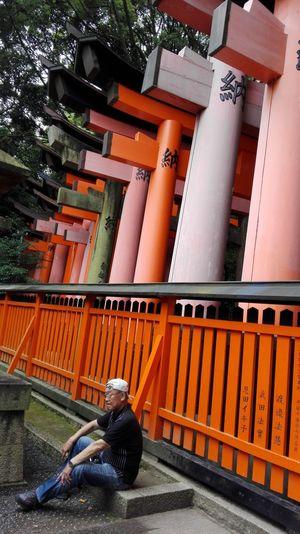 Inari shrine Torii Gate Taking Photos Hello World Kyoto,japan UltimateJapan