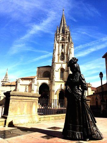 Oviedo, Asturias, Spain Architecture Religion Sky Statue Travel Destinations Sculpture No People City Statue Human Representation Architecture Tranquil Scene Arch