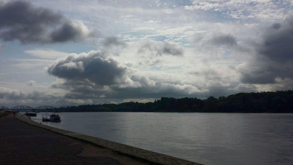 Toruń River Vistula Sky Clouds And Sky Clouds