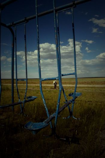 Abstract Photography Cloud - Sky Landscape No People Old Playground Out In The Country Prairie Center Wyoming Rural Scene