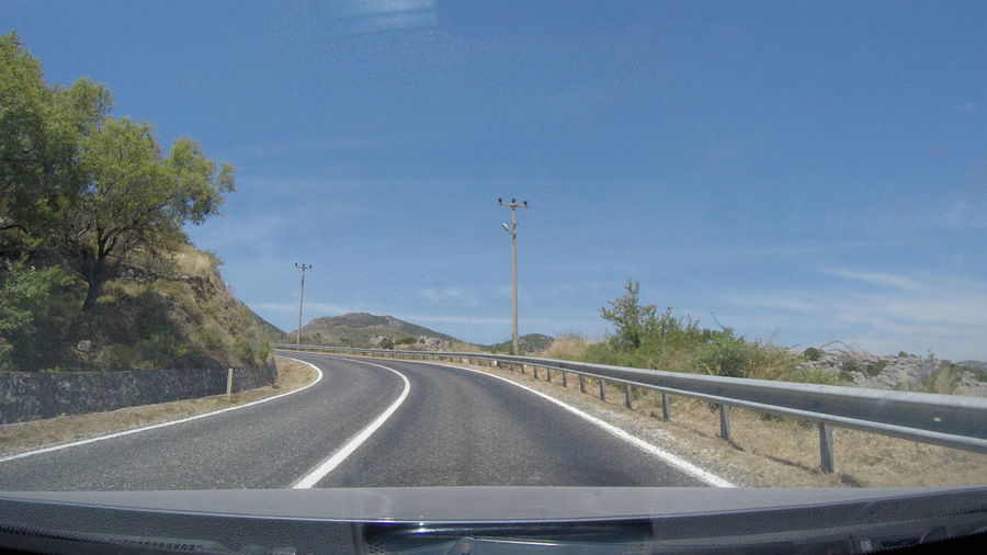 Car Datça Drive Drivebyphotography Holiday Nature No People Road Transportation Travel Turkey