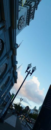 Embarcadero Ferrybuilding Panoramic Cloudy Skies Sunsets Historical Building Sunset_collection Lamppost