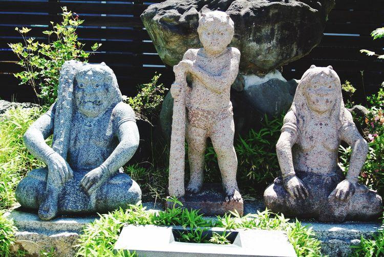 長野県 安曇野市 大王わさび農場 Japan Nagano Azumino Daiou Wasabi Farm ONI Ogre