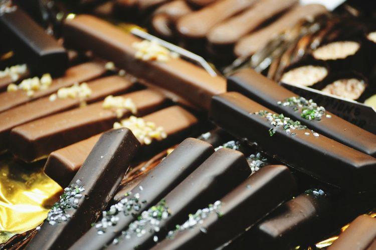 Full frame shot of chocolate bar