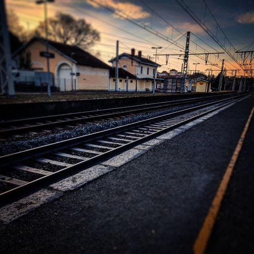 Train Track Train Station