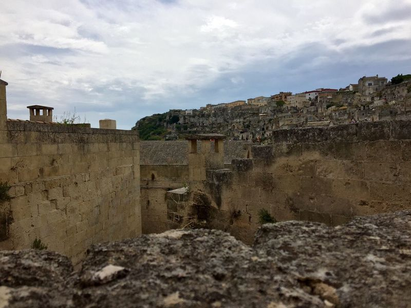 My Year My View Architecture Sky Built Structure History Building Exterior Travel Destinations Ancient Day Ancient Civilization No People Outdoors Cloud - Sky Nature The Past Ghost Town Architecture_collection Sassidimatera Sky And Houses Ruined Ancient History Old Ruin Cityscape Residential Building House