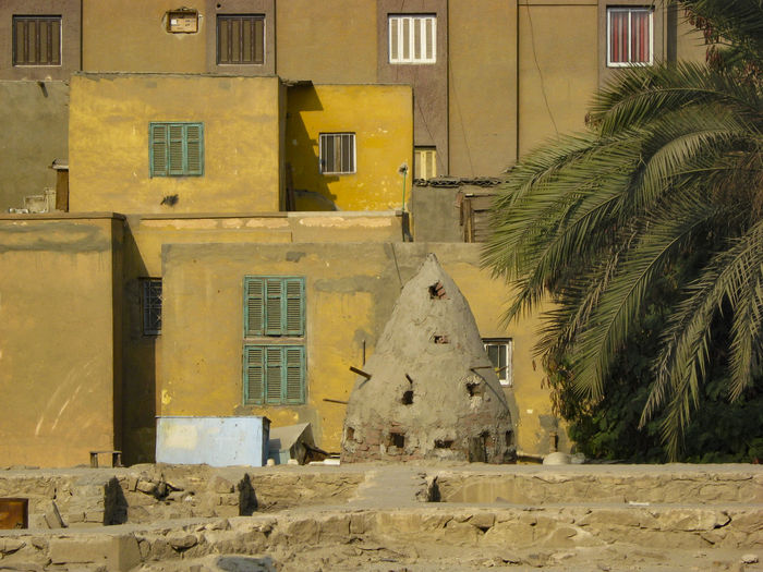 Rooftop and pigeon loft, Maadi, Cairo Architecture Building Building Exterior Built Structure City Dove Dovecote Exterior Old Outdoors Pigeon Pigeon Loft Residential Building Residential Structure Roof Rooftop Street Sunlight Tree Wall Wall - Building Feature Window Yellow Egypt Cairo