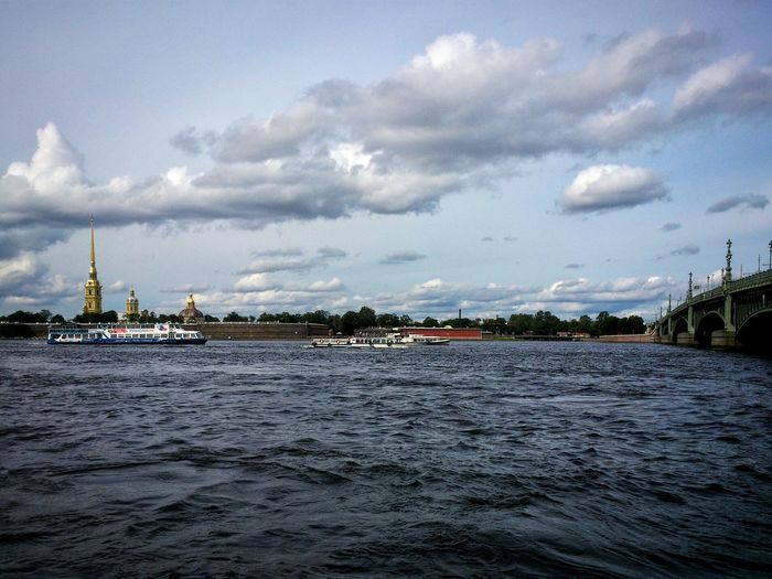 Autumn time Water Waterfront Sky Cloud - Sky Scenics Tranquil Scene Cloud Tranquility Cloudy Day Outdoors No People River River View RiverNeva Peterandpaulfortress Fortress Saint Petersburg