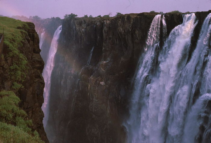 Victoria Falls in the Dry Season & Rainbow Beauty In Nature Cliff Composition Famous Place Full Frame Livingstone  Long Exposure Motion Musi-o-tunya Nature No People Outdoor Photography Power In Nature Rainbow Rock Formation Rocks Scenics Sunlight And Shade The Great Outdoors - 2017 EyeEm Awards Victoria Falls Water Waterfall Waterfalls Wonder Of The World Zambia