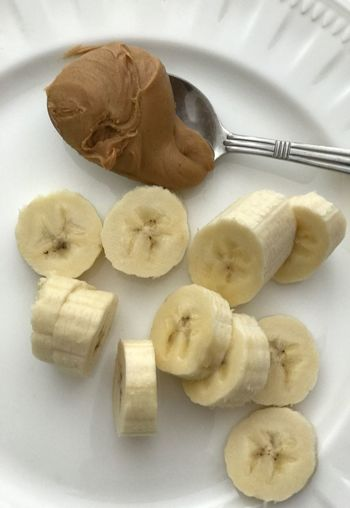 Peanut Butter and Banana Snack Healthy Food Healthy Lifestyle Healthy Eating White Plate Peanut Butter Banana Banana Peanut Butter Healthy Snack Healthy Snacks Food And Drink Food Freshness Indoors  Table Plate Close-up No People Healthy Eating Ready-to-eat
