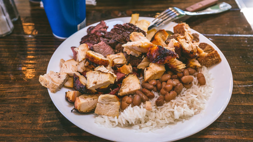 Rencho Pantanal Meal Brazilian Buffet Close-up Day Food Food And Drink Freshness High Angle View Indoors  No People Plate Ready-to-eat Rodizio Serving Size Table