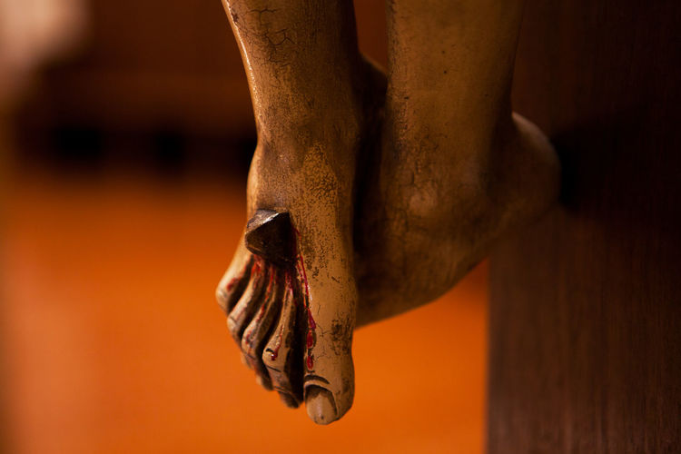 Close-up of jesus christ statue