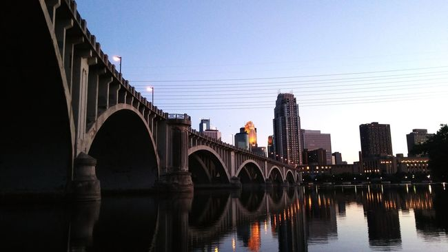Minneapolis MinneapolisPhotography Minnesotaphotographer Cityscape Reflection Bridge - Man Made Structure Urban Skyline Night Sky Arch Sunset Water Architecture