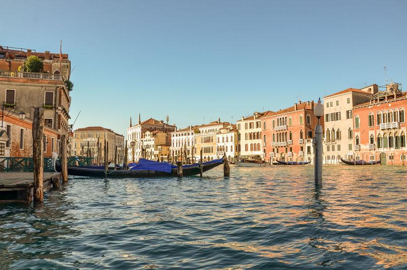 By gondola in