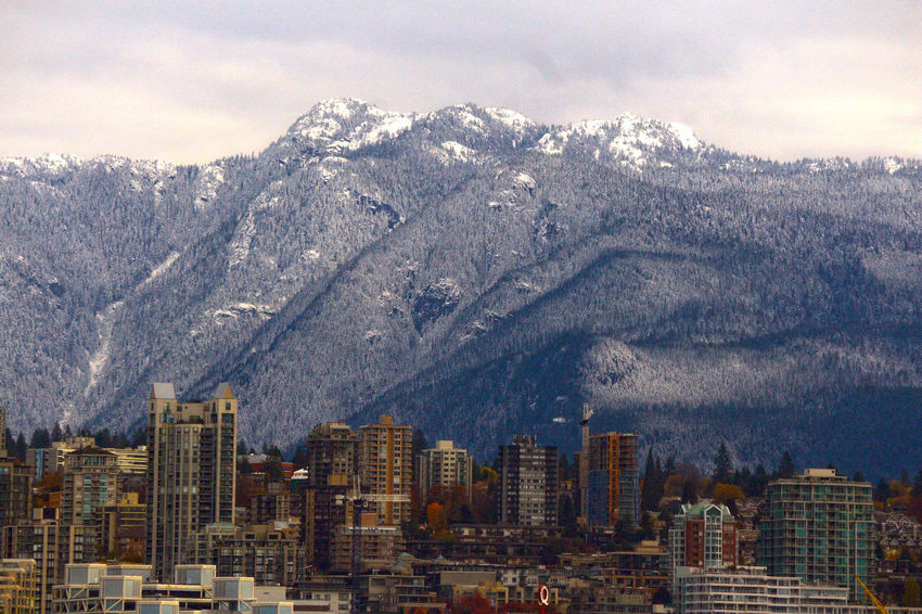 City of North Vancouver B.C. with snow capped mountains. Cityscape Outdoors No People City Snowcapped Mountain Canada Snow Beauty In Nature North Vancouver Bc Canada Canada B.C