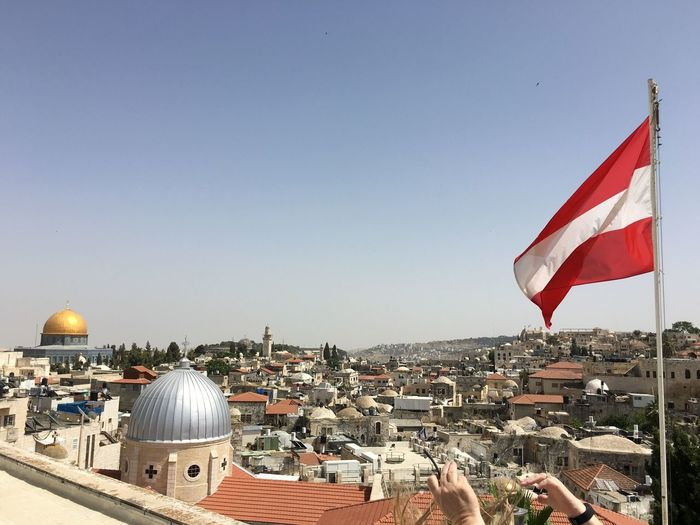 View From Above Cityscapes Temple Mount Austrian Flag