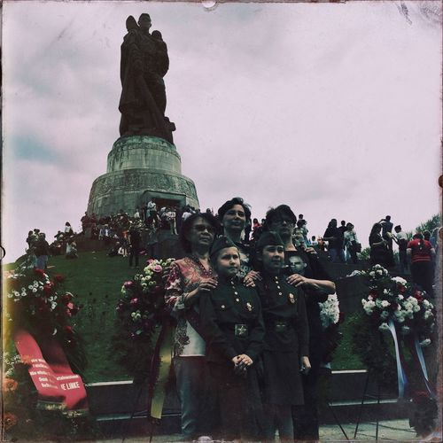 Celebrating Victory Day VEDay70 with Russians Ukrainians and others on 9 May 2015 World War 2 Memorial History Streetphotography Hipstamatic
