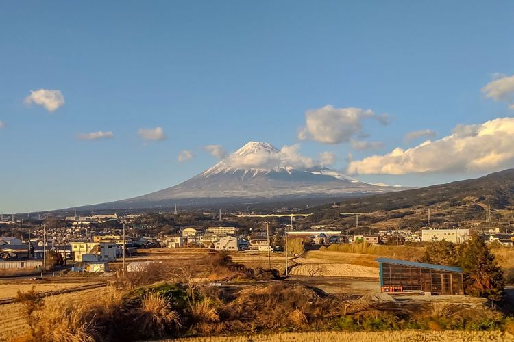 Mt.Fuji Landscape_Collection Landscape_photography Taking Photos EyeEm Best Shots EyeEm Gallery From My Point Of View The Week on EyeEm Sky Cloud - Sky Mountain Building Exterior Built Structure Nature No People Landscape Scenics - Nature Beauty In Nature Tranquil Scene