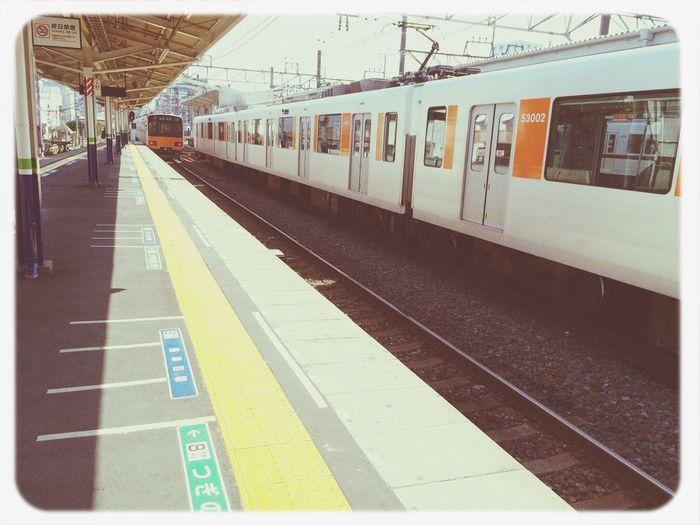 でんしゃ Public Transportation Train Station Enjoying Life Train