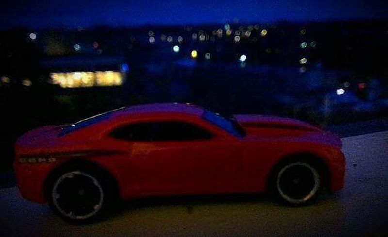 Transportation Mode Of Transport Illuminated Car Land Vehicle Road Night Travel Red Old-fashioned Tail Light The Past City Life No People ToyCar Town Mustang