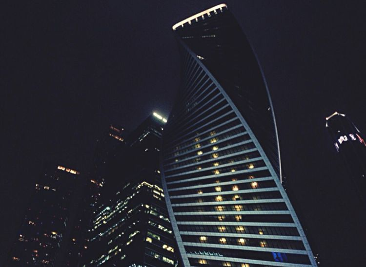Cities At Night Moscowneversleeps